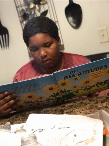 Stephanie Yates's Grandson reading THE BEE-ATITUDES