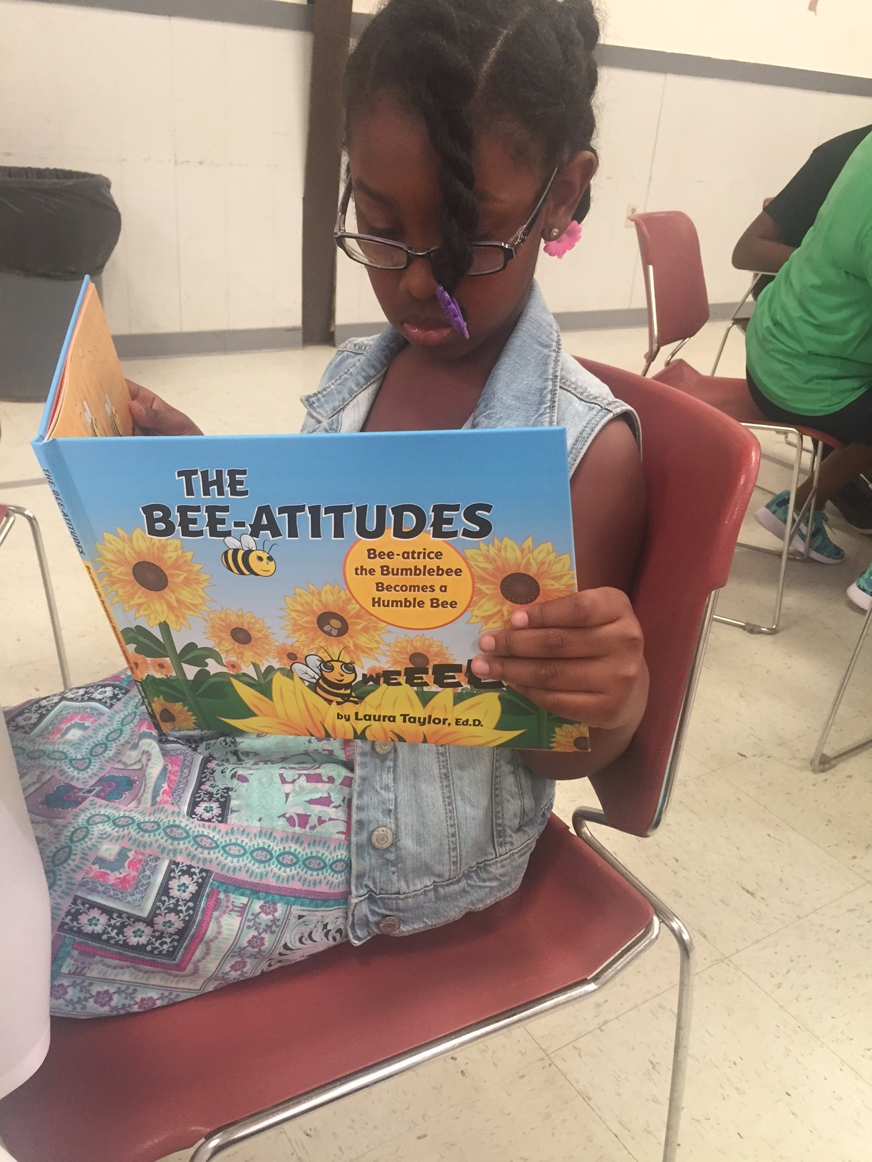 Bri Ann is reading THE BEE-ATITUDES!